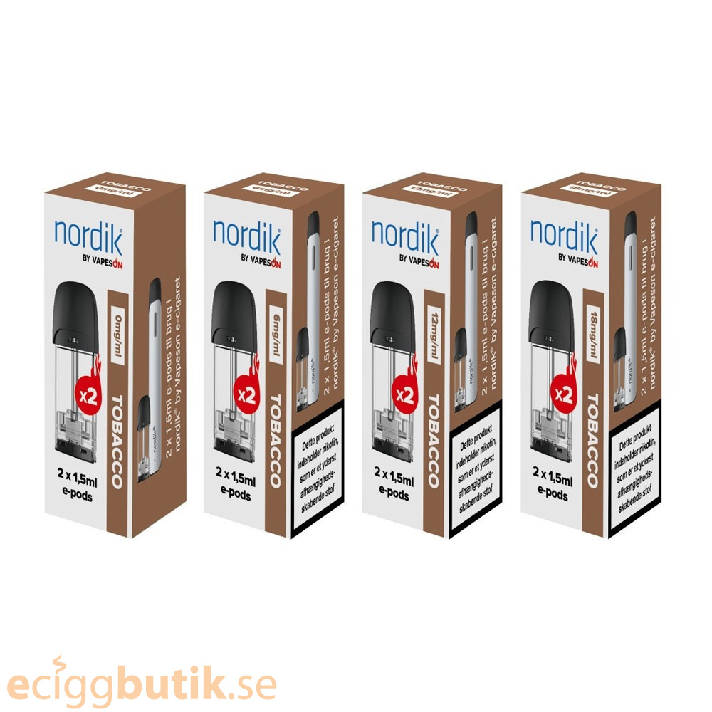 Nordik by Vapeson E-pods - Tobacco