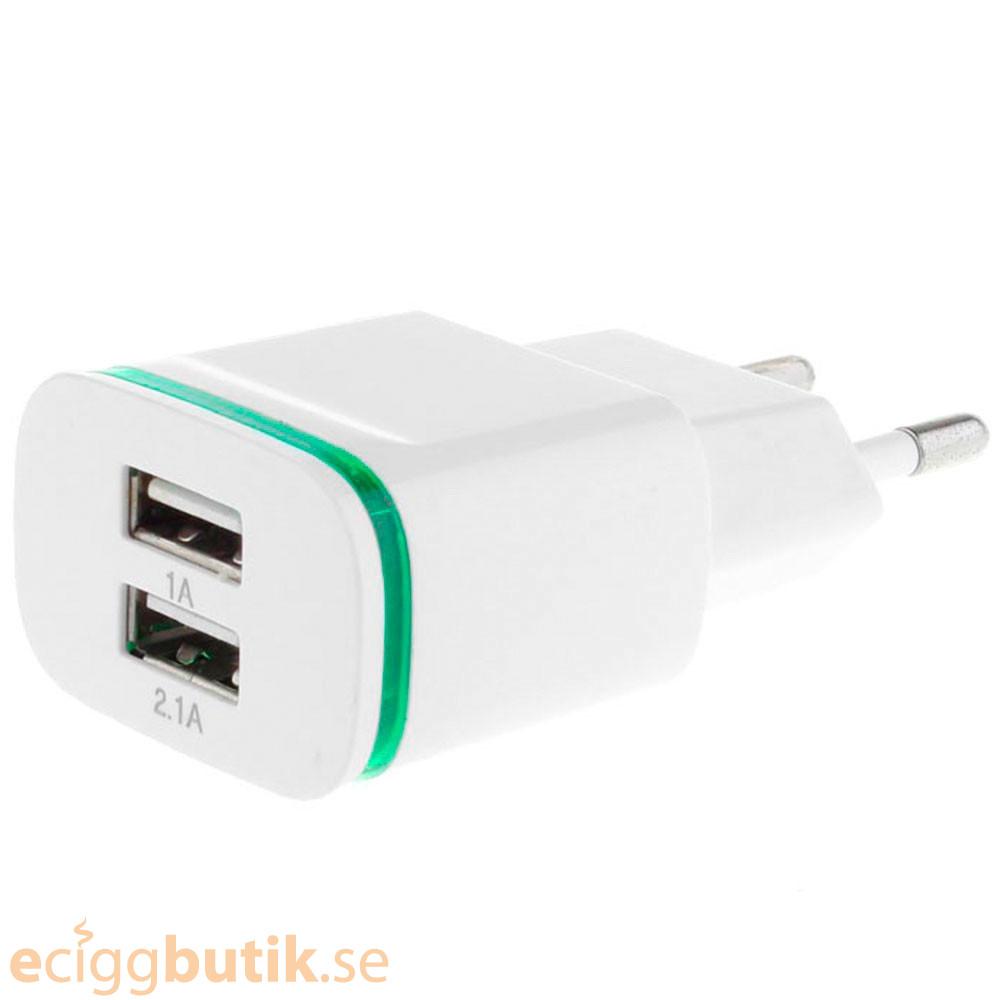 Væg Adapter 2.1A + 2 x USB